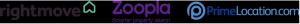 Rightmove Zoopla PrimeLocation Logos