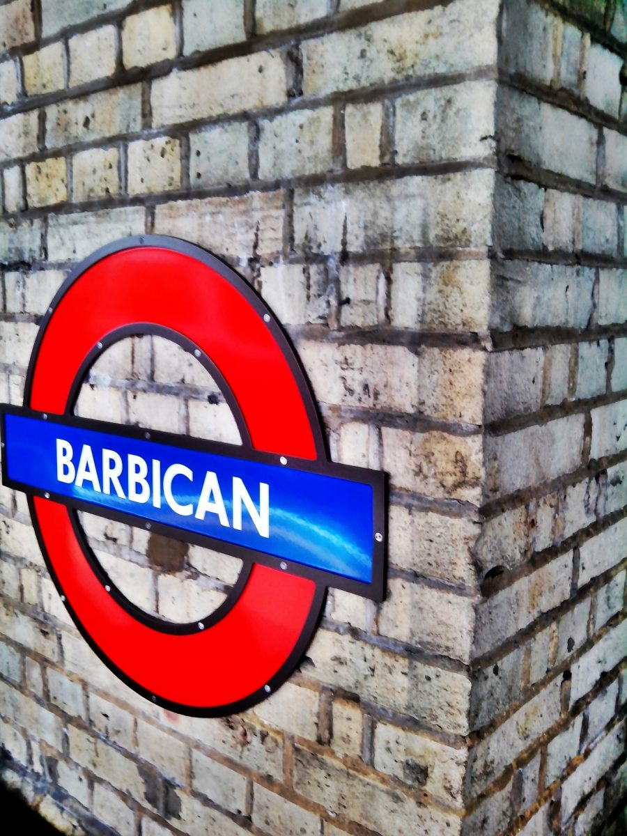 Barbican underground sign